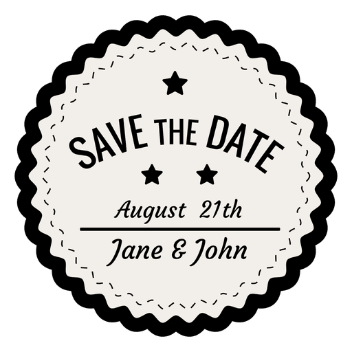 Save the date vintage badge
