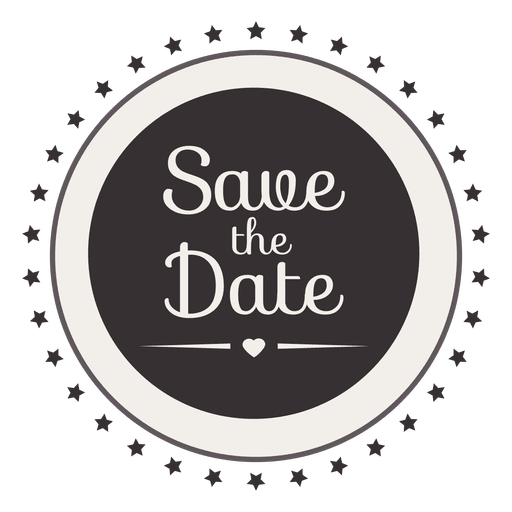 Save the date stars badge - Transparent PNG & SVG vector