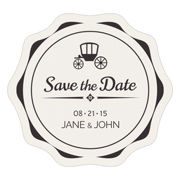 Save the date vintage label