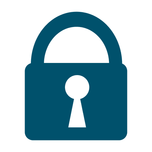 Security lock flat icon Transparent PNG