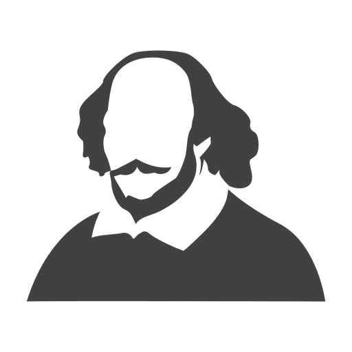 Shakespeare silhouette Transparent PNG