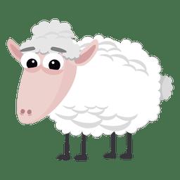 Dibujos animados de ovejas natividad cristiana