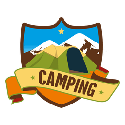 Escudo, acampamento, retro, emblema