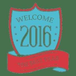 Fita de escudo 2016 ano novo crachá