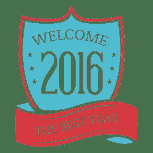 Shield ribbon 2016 new year badge Transparent PNG