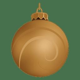 Adorno navideño dorado brillante