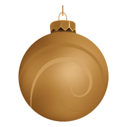 Shiny golden christmas bauble