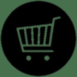 Icono de servicio de compras redondo