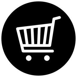Shopping round service icon