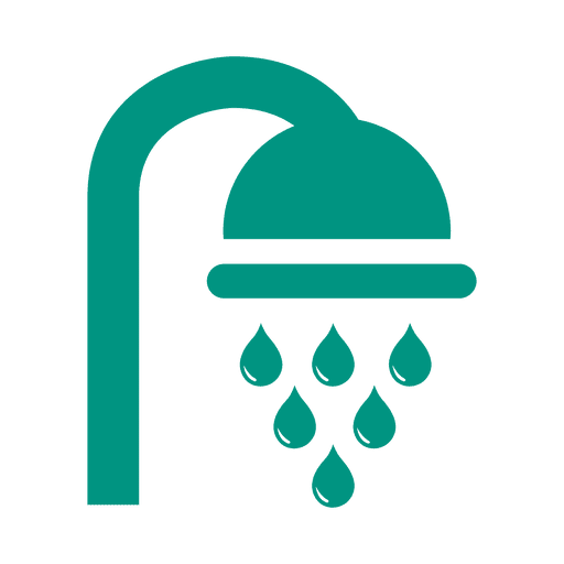 Shower flat green icon Transparent PNG