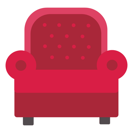 Sofá de cuero de un solo asiento Transparent PNG