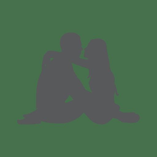 Sitting down romantic couple - Transparent PNG & SVG vector