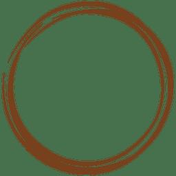 Decoración de corona de línea de boceto
