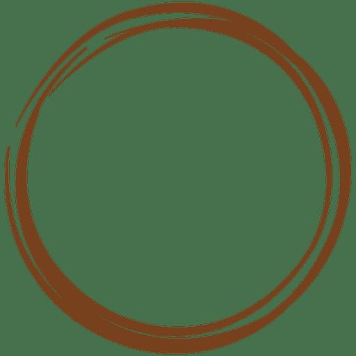Decoración de corona de línea de dibujo