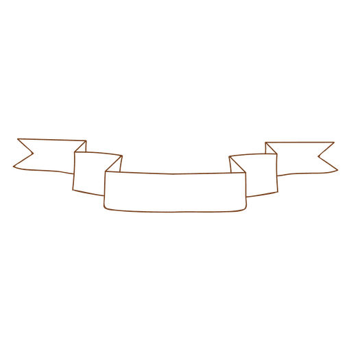 Sketchy folded ribbon Transparent PNG