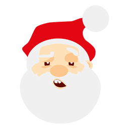 Sleepy santa claus emoticon