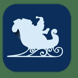 Sleigh flat square icon