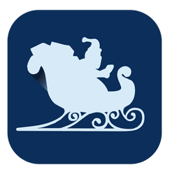 Trineo plano icono cuadrado