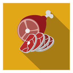 Sliced chicken square icon