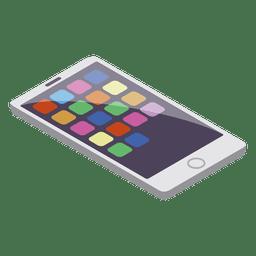 Estilo isométrico de telefone inteligente