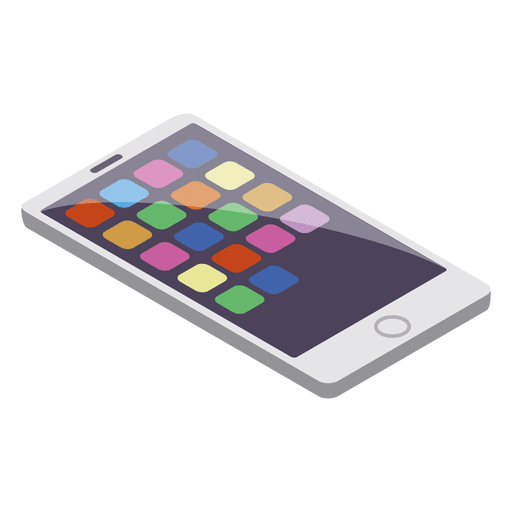 Smart phone isometric style Transparent PNG
