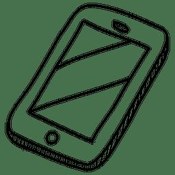 Ícone de mão desenhada de smartphone