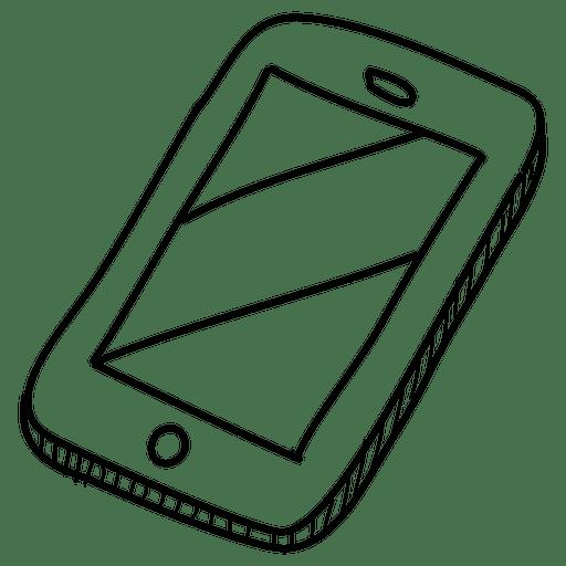 mo smartphone cone desenhado  svg transparente
