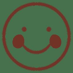 Flaches Emoticon lächeln
