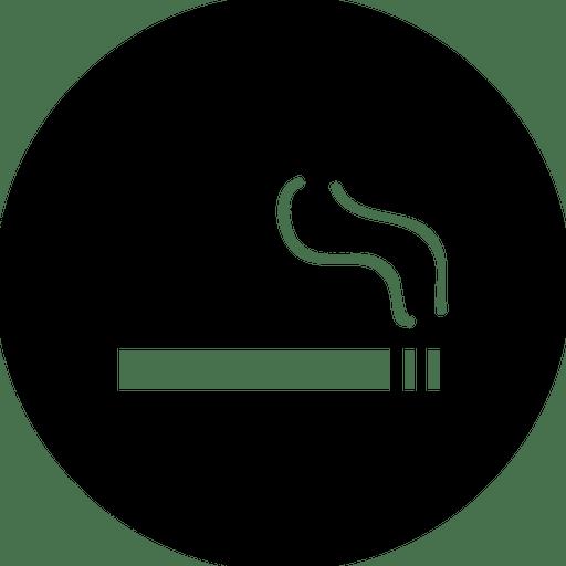 Icono redondo de fumar Transparent PNG