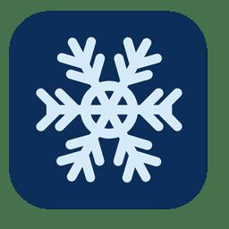 Icono cuadrado azul copo de nieve