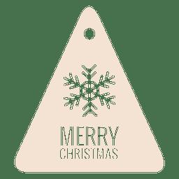 Snowflake die cut triangle label