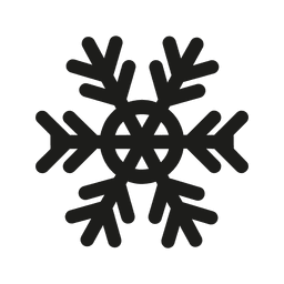 Silhueta de ícone plana de floco de neve