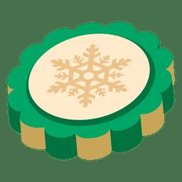 Grüne 3d Münze der Schneeflocke