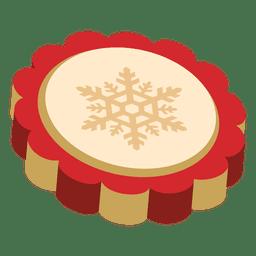Moneda de navidad roja copo de nieve