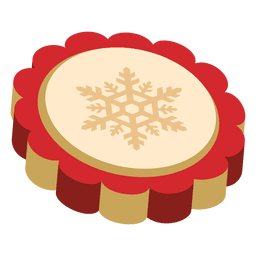 Rote Weihnachtsmünze der Schneeflocke