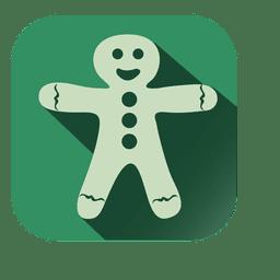 Muñeco de nieve navidad muñeca icono cuadrado