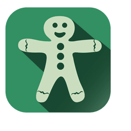 Snowman christmas doll square icon