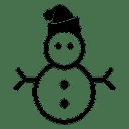 Schneemann Weihnachten Symbol
