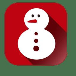 Muñeco de nieve icono cuadrado
