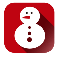 Snowman doll square icon