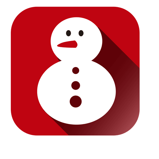 Snowman doll square icon Transparent PNG