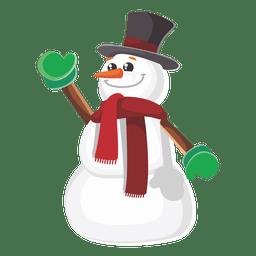 Boneco de neve dos desenhos animados engraçados