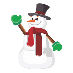 Snowman funny cartoon