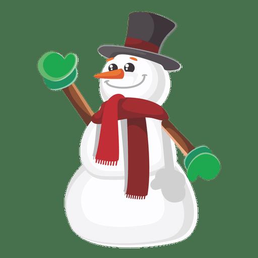 Historieta divertida de muñeco de nieve Transparent PNG