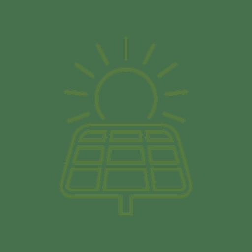 Solar energy line icon.svg Transparent PNG