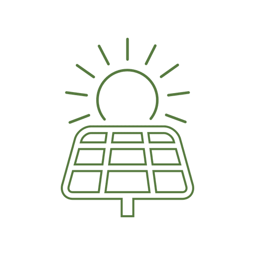 Solar energy line icon.svg