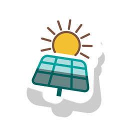 Solar panel sticker.svg