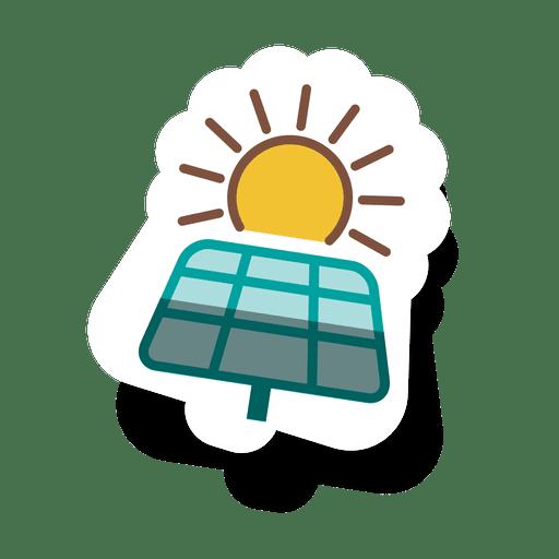 Panel solar sticker.svg Transparent PNG