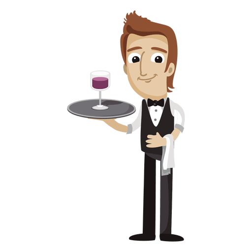 Sommelier funny cartoon profession Transparent PNG