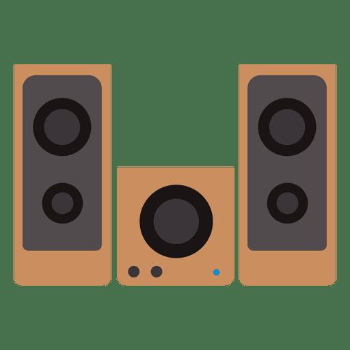 Sound box speakers set Transparent PNG